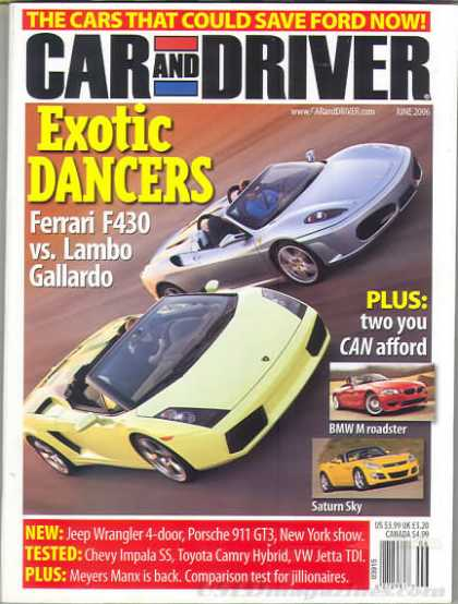 Car and Driver - June 2006