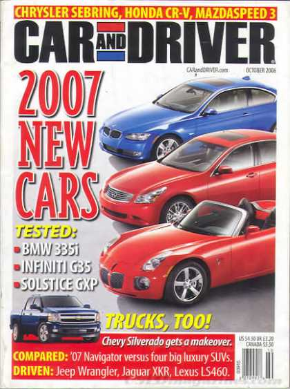 Car and Driver - October 2006