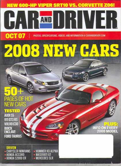 Car and Driver - October 2007