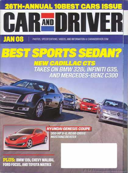 Car and Driver - January 2008