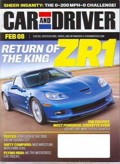 Car and Driver - February 2008