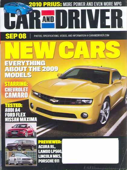 Car and Driver - September 2008