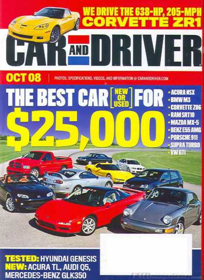 Car and Driver - October 2008
