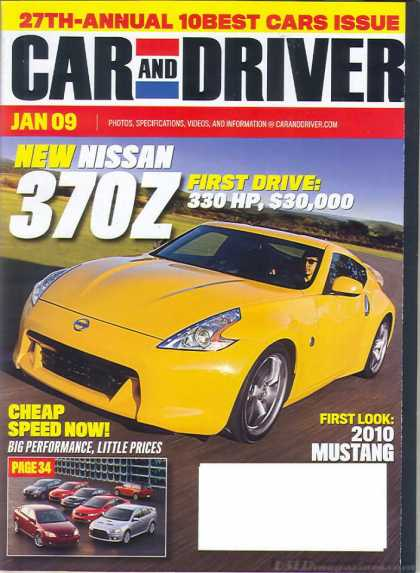 Car and Driver - January 2009