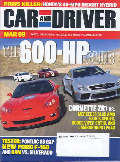 Car and Driver - March 2009