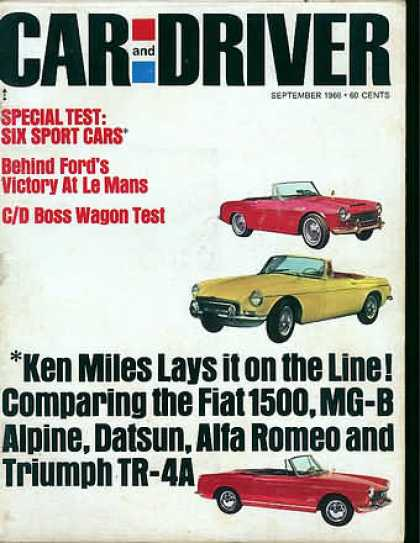 Car and Driver - September 1966