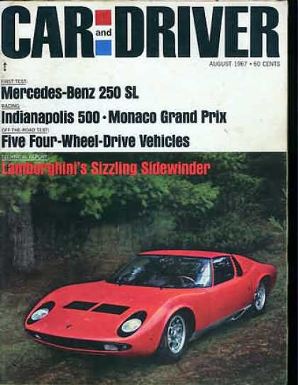 Car and Driver - August 1967