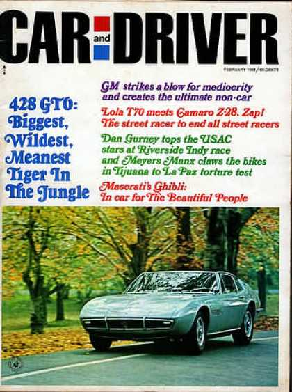 Car and Driver - February 1968