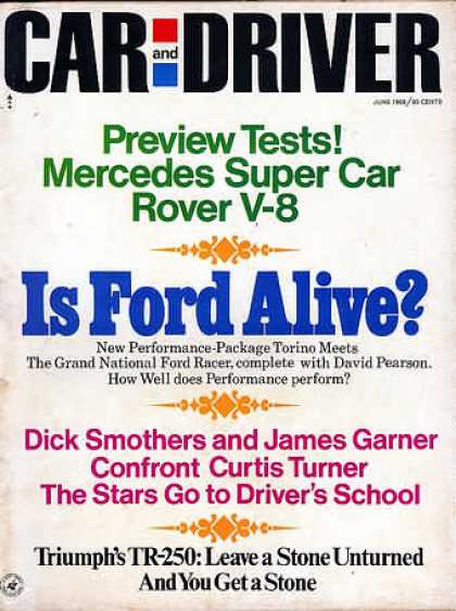 Car and Driver - June 1968