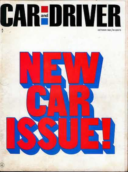 Car and Driver - October 1968