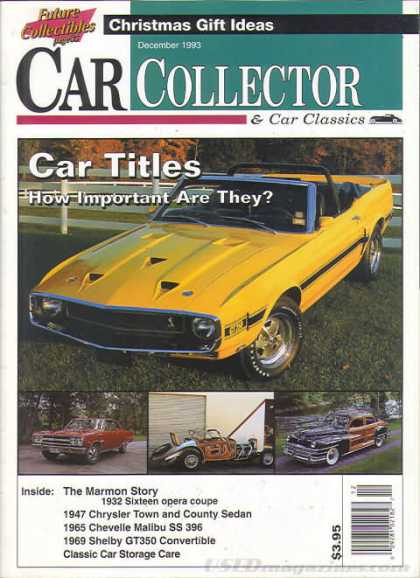 Car Collector - December 1993