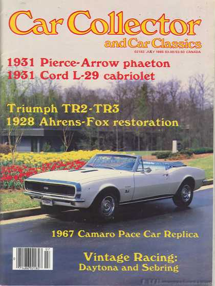 Car Collector - July 1985