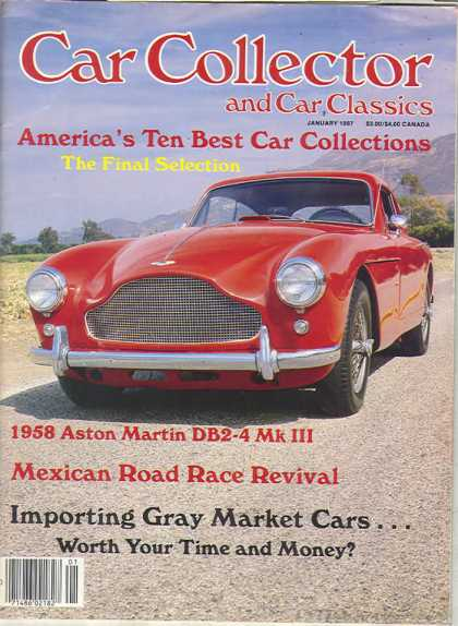 Car Collector - January 1987