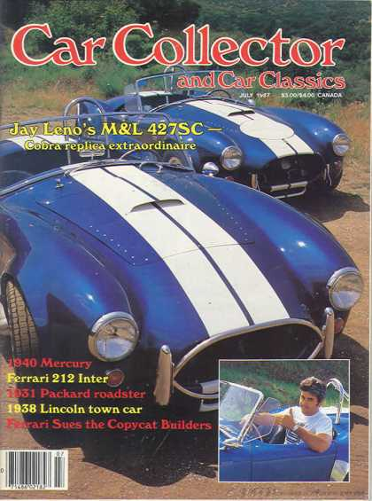 Car Collector - July 1987