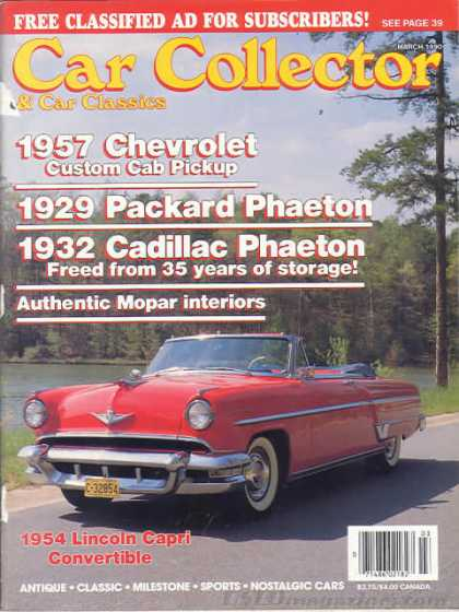 Car Collector - March 1990