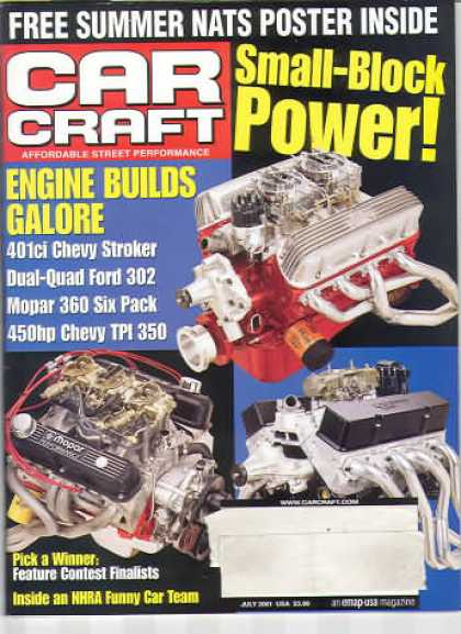 Car Craft - July 2001