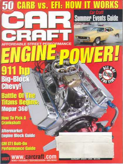 Car Craft - August 2003