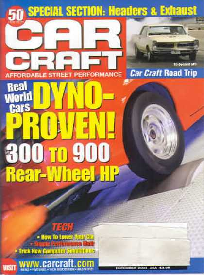 Car Craft - December 2003