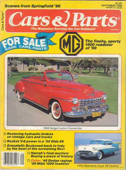 Cars & Parts - September 1986