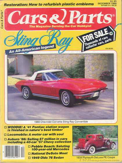 Cars & Parts - December 1986
