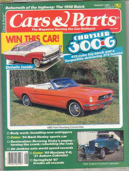 Cars & Parts - August 1987