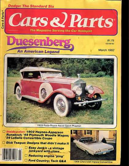 Cars & Parts - March 1982