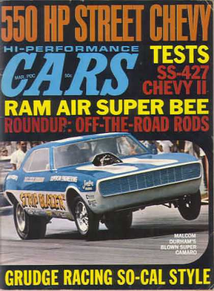 Cars - March 1969