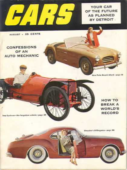Cars - August 1953
