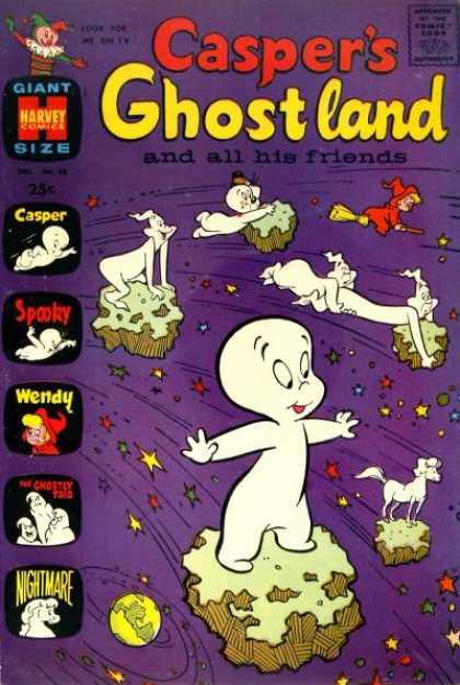 Casper's Ghostland 33 - Harvey - Jack In The Box - Giant Size - Witch - Spooky