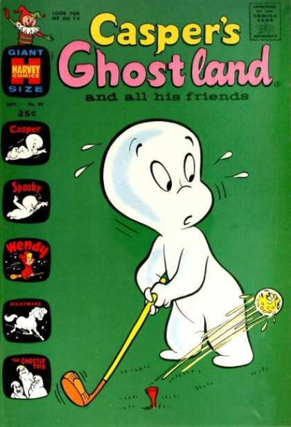 Casper's Ghostland 50 - Harvey Comics - Golf - Spooky - Ghost - Wendy