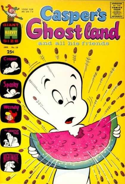 Casper's Ghostland 58 - All His Friends - Marvel Comics - Approved - Giant Size - Wendy