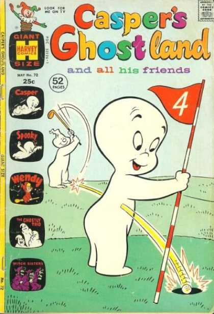 Casper's Ghostland 72 - Look For Me On Tv - Giant Size - Harvey Comics - Approved By Comics Code - And All His Friends