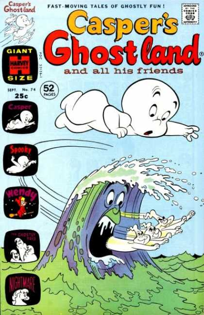 Casper's Ghostland 74 - Casper - Ghost - Harvey Comics - Giant - Wendy