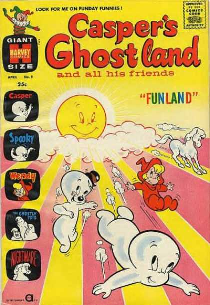 Casper's Ghostland 9 - Casper The Friendly Ghost - Yellow - Wendy Witch - Nightmare - Smiling Sun