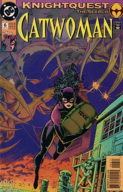 Catwoman 6 - Dollar Comics - Knightquest - Deffy - Us 150 - Approved By Comics Code Authority - Paul Pope
