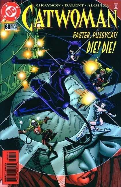 Catwoman 68 - Statue Of Liberty - Faster Pussycat - Grayson - Balent - Die - Adam Hughes