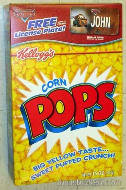 Cereal Boxes - Kellog's Corn Pops