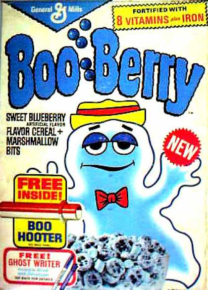 Cereal Boxes - Boo Berry