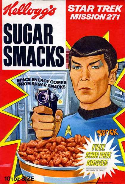Cereal Boxes - Kellog's Sugar Smacks w/ Spock