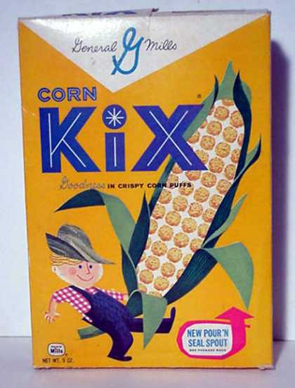Cereal Boxes - w/ Corn Kid