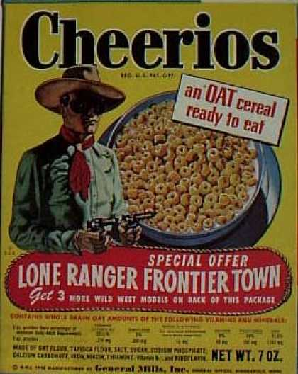 Cereal Boxes - Lone Ranger