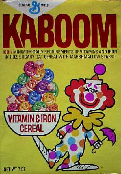 Cereal Boxes - General Mills' Kaboom
