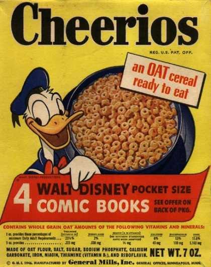 Cereal Boxes - Donald