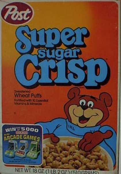 Cereal Boxes - Sugar Bear