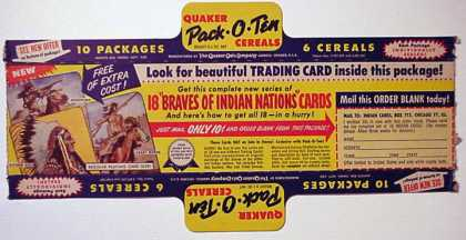 Cereal Boxes - Indian Trading card offer