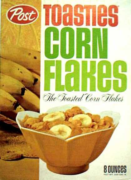 Cereal Boxes - Post Toasties Corn Flakes