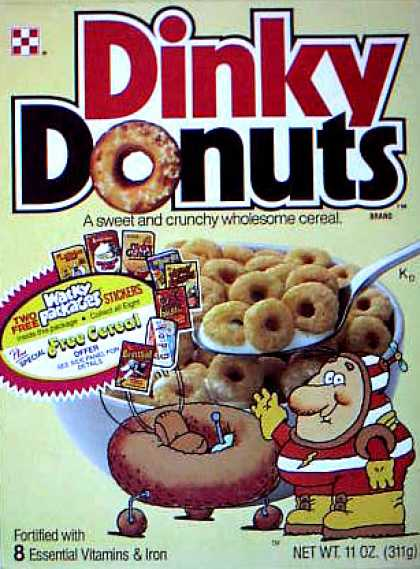 Cereal Boxes - Dinky guy w/ ship