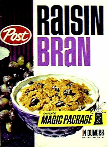 Cereal Boxes - Post Raisin Bran