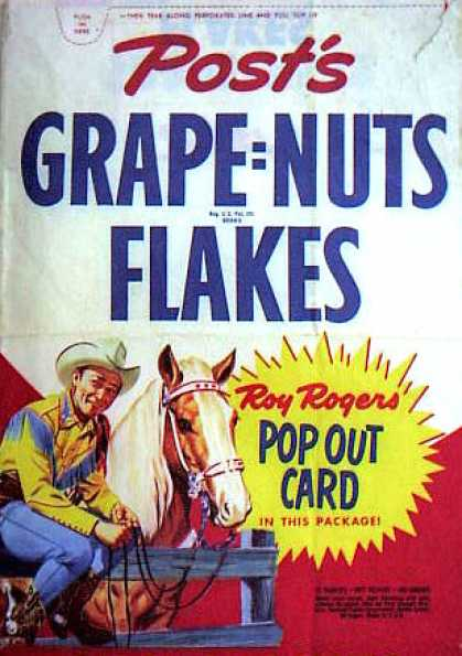 Cereal Boxes - Roy Rogers