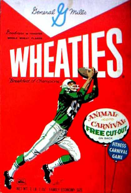 Cereal Boxes - football player